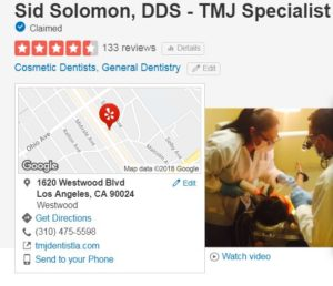 tmj dentist la dr sid solomon dds yelp reviews testimonials